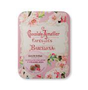 Amatller - Gevulde bloemblaadjes van melkchocolade met framboos in bewaarblik - 72 gram