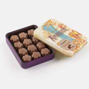 Amatller - Gevulde bloemblaadjes van melkchocolade met koffie in bewaarblik - 72 gram