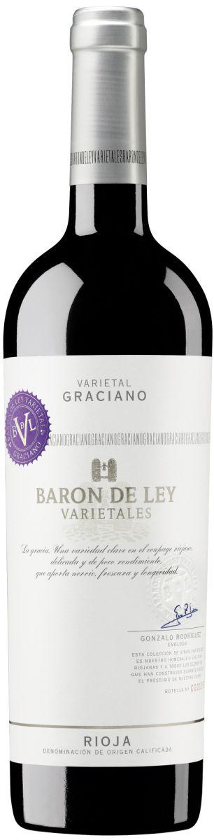 Afbeelding van Barón de Ley Varietal Graciano 0,75 2016