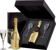 Bottega - Prosecco Gold in zwarte geschenkverpakking met twee glazen - 0.75 - n.m.