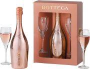 Bottega - Glamour Prosecco Rose Gold met twee glazen - 0,75 - n.m.