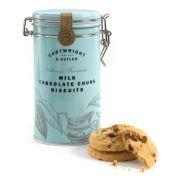 Cartwright & Butler - Biscuits met melkchocolade brokjes in bewaarblik - 200 gram