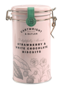 Cartwright & Butler - Strawberry White Chocolate Koekjes in Bewaarblik - 200 gram