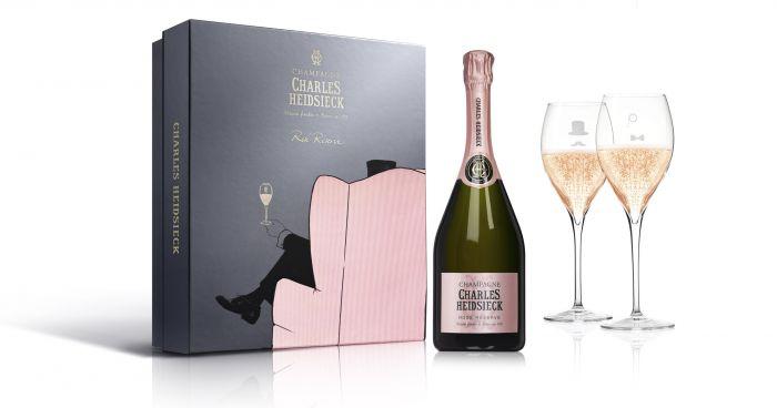 Afbeelding van Charles Heidsieck Champagne AC Armchair Club giftbox Rosé 0,75