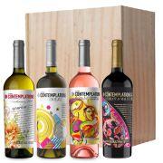 Katarzyna - 4 flessen in houten kist - 0,75