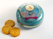 La Sablesienne - Zandkoekjes in bewaarblik - Blauw - 175 gram