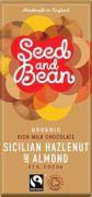 Seed & Bean - Melk Chocolade 37% - Hazelnoot & Amandel - 85 gram