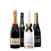 Moët & Chandon - Champagne combinatiepakket - 0.75 - 4 stuks