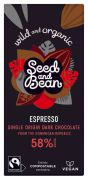 Seed & Bean - Pure Chocolade 58% - Espresso - Dominicaanse Republiek BIO - 85 gram