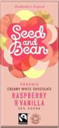 Seed & Bean - Witte Chocolade - Raspberry & Vanille - 85 g