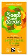 Seed & Bean - Pure Chocolade 58% - Sinaasappel en Tijm - 85 g