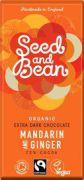 Seed & Bean - Pure Chocolade 72% - Mandarijn & Gember - 85 g