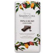 Simon Coll - Pure Chocolade 70% met Nibs - 85 gram