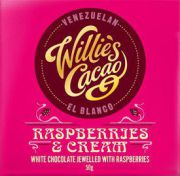 Willie's Cacao - White chocolate - Raspberries & Cream - 50 g