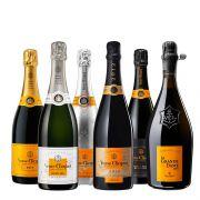 Veuve Clicquot - Champagne combinatiepakket - 0.75 - 6 stuks