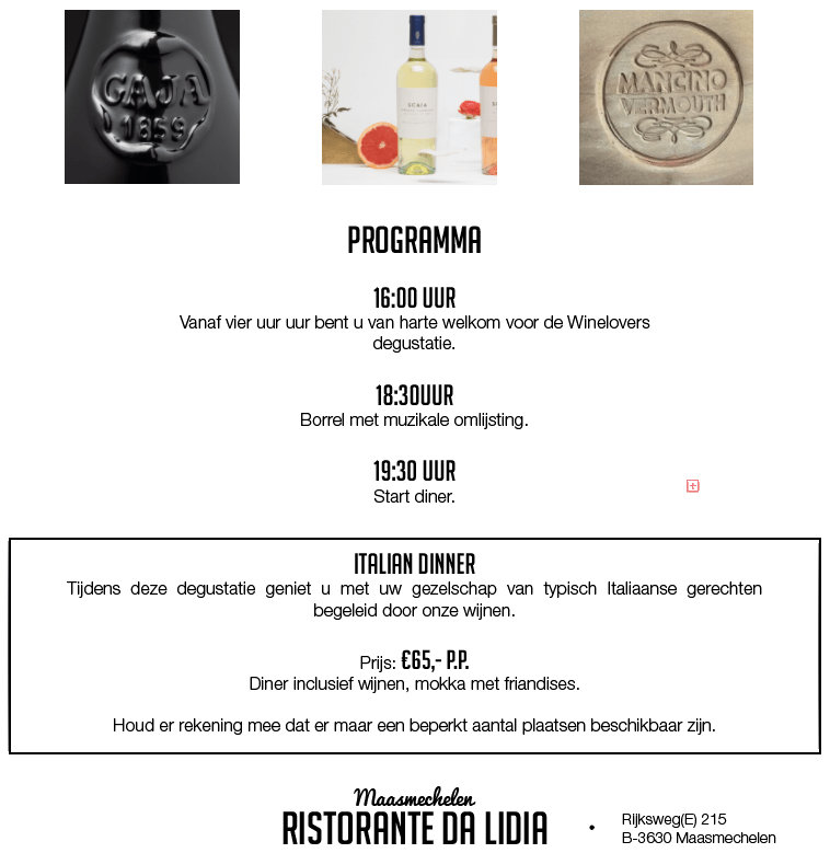 Programma winelovers